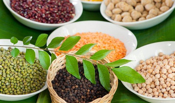 La nourriture ayurvédique à Surya
